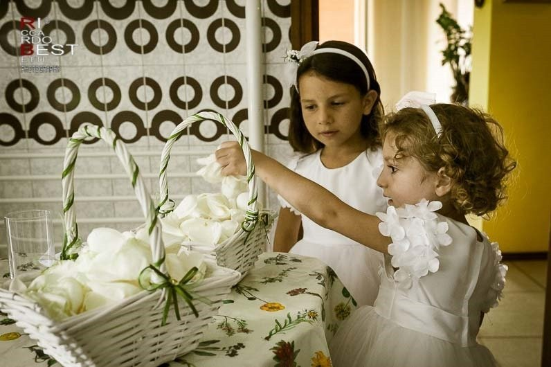 Traditional Italian Wedding Cake With Doves