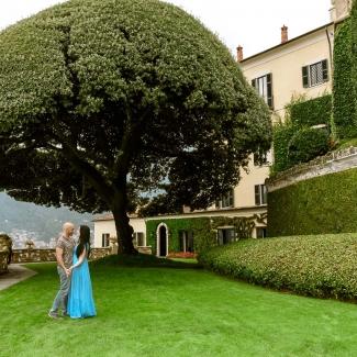 Wedding Photographer Proposal in Lake Como Villa Balbianello