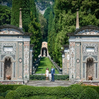 wedding photographer intimate wedding in Villa d' Este
