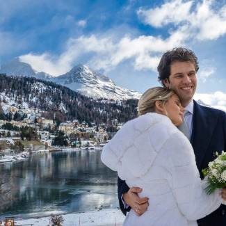 Wedding Photographer: luxury winter wedding in St. Moritz