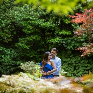 Photographer Lake Como: From the USA to Bellagio, Villa Melzi for a surprising marriage proposal